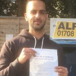 Sohil Passed at Loughton with our instructor Ray